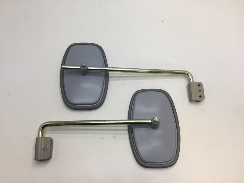 HY551-105-104gr  Spiegel, 1 set van 2 spiegels grijs, 192x124 mm + steun, Citroen HY