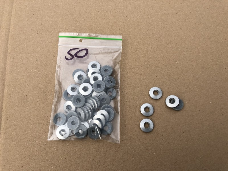1540084A250  Washer M7X18, inox, 50pc