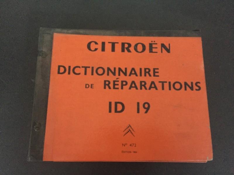 472.2  Workshop manual ID19 [French]